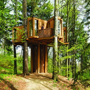 Atelje Ostan Pavlin:  Observation Tree House, Celje City Forest, and  Bicycle trail Bohinj, Slovenia