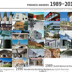 Exhibition Piranesi Awards 1989-2016, FH KÄRNTEN Campus Spittal
