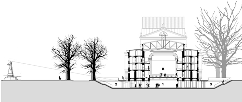Addition and adaptation of the SNT Opera and Ballet Ljubljana building (with Marjan Zupanc) competition 1998, constructed 2011; Photo JK Architecture: Jurij Kobe, Marjan Zupanc Collaborators: Maja Ivanič, Sndra Fatur, Mojca Gužič, Maja Ivanič, Rok Žnidaršič, Maja Kovačič, Urša Podlipnik, Tanja Bojc, Miloš Jeftić, Lovrenc Cvetko, Špela Kokalj, Vid Razinger