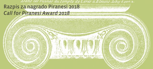 Call for Piranesi Award 2018