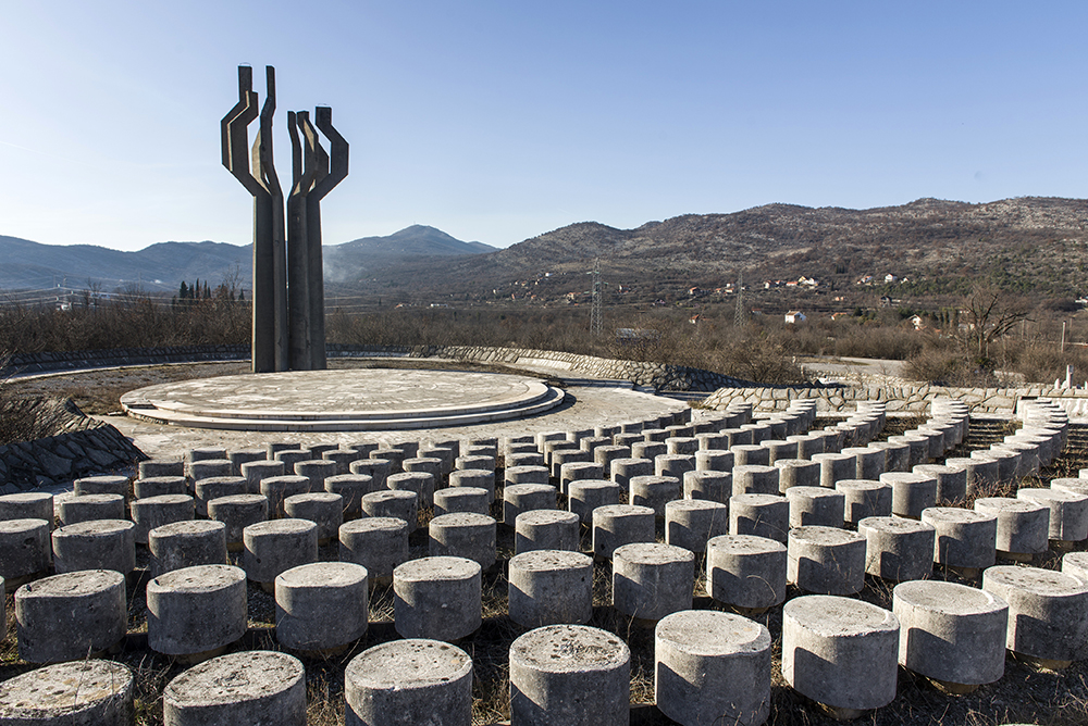 Memorial to the Fallen of the Lješanska Nahija Region in Barutana, Podgorica Municipality, Montenegro (1975-80) Author: Svetlana Kana Radević Photo taken in 2019. Photo credit: Lazar Pejović