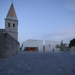 Sports Hall and Public Square, Town of Krk, Island of Krk, Croatia